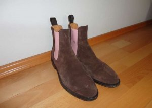 SCAROSSO Chelsea Boots Veloursleder