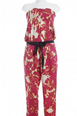 SCEE Jumpsuit Allover-Druck Beach-Look