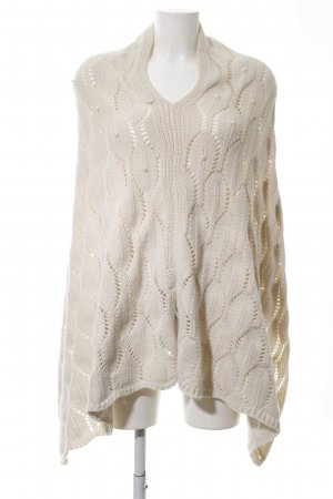 SCEE Knitted Poncho cream allover print casual look