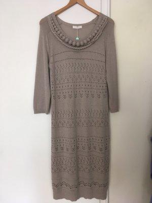 Scervino Street Vestido de lana marrón grisáceo