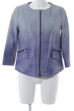 Scervino Street Lederjacke graublau-lila Farbverlauf extravaganter Stil