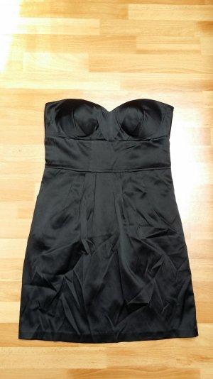 schänes schwarzes Kleid/ schulterfrei/ satin/ 38/ tally weijl