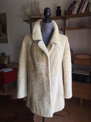 Schaffell Jacke aus Echtfell beige