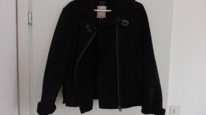 Schaffellimitat-Jacke schwarz von S.Oliver