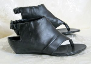Sandalo infradito con tacco alto nero Sintetico