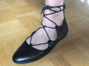 Varese Strappy Ballerinas black leather