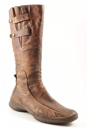 Jackboots brown-dark brown casual look
