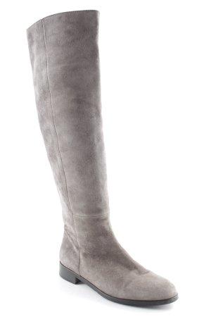 Botas estilo militar gris estilo clásico