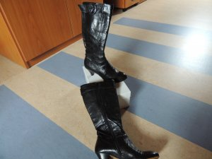 Manas Botas estilo militar negro Cuero