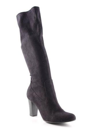 Botas estilo militar negro elegante