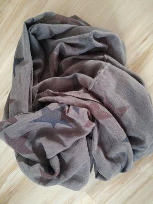 Sciarpone marrone-grigio