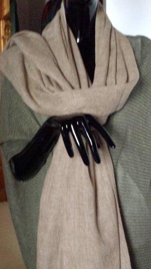 Schal 100% Cashmere, handmade in Nepal, sandbraun, neu