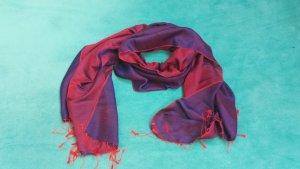 Cashmere Scarf dark red-blue