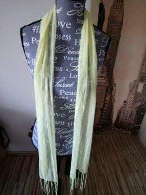 Bufanda de flecos amarillo claro