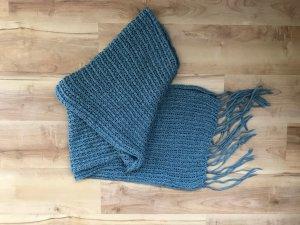 Schal 2 Meter lang graublau blau guter Zustand