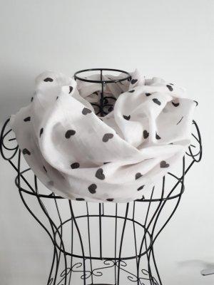 Pieces Bufanda blanco-negro