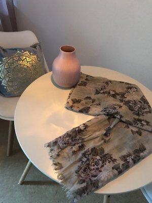 H&M Chal veraniego rojo zarzamora-beige