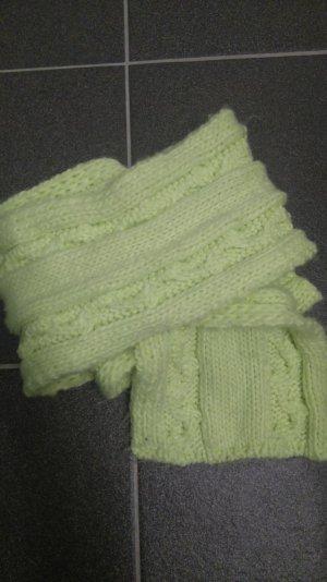 Atmosphere Bufanda amarillo pálido-verde neón