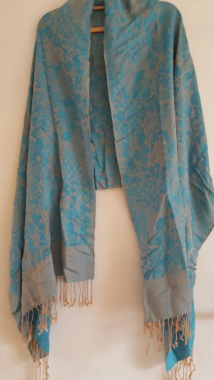 Pashmina beige-light blue