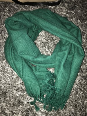 H&M Fringed Scarf forest green