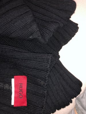 HUGO Hugo Boss Écharpe en tricot noir