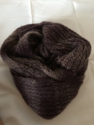 Pieces Écharpe en tricot or rose-rouge mûre