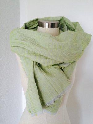 Zara Écharpe vert pâle coton