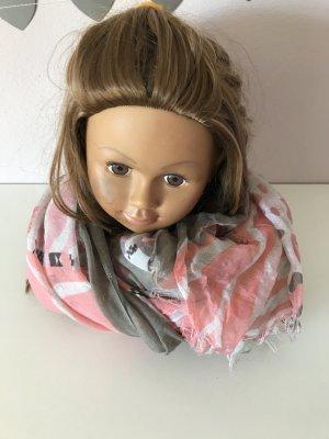 Deichmann Bufanda gris-rosa