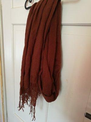 H&M Sjaal met franjes roodbruin