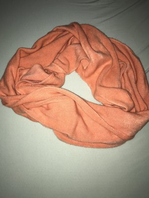 Zara Gebreide sjaal zalm