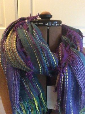 Sciarpa con frange multicolore Rayon