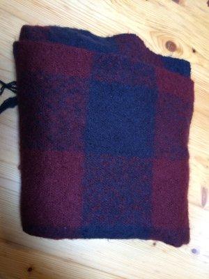 H&M Wollen sjaal bordeaux-donkerblauw