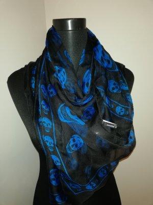 Alexander McQueen Summer Scarf black-blue