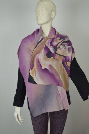 Schal aus 100 % Seide lila