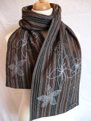 Schal aus Baumwolle mit Stickerei und Pailletten