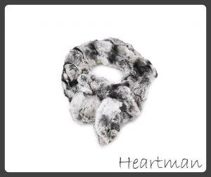Schal aus Fell (Kanninchen) grau