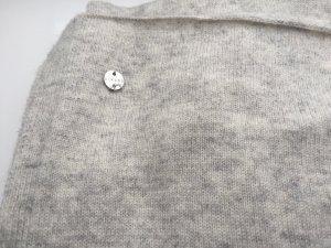 Schal aus weicher Wolle und Kaschmir, groß, Pastellgrau/Hellgrau
