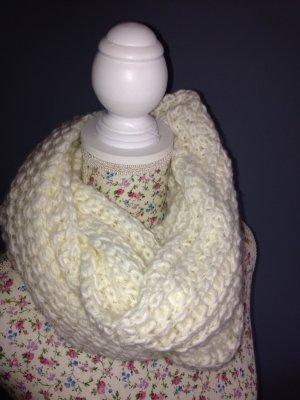 Sciarpone bianco sporco Tessuto misto