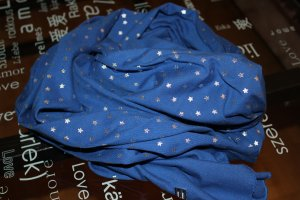 Tommy Hilfiger Chal veraniego azul-color plata Algodón
