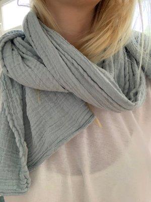 Schal Baumwollschal Wayda Tuch blau lang aus Baumwolle
