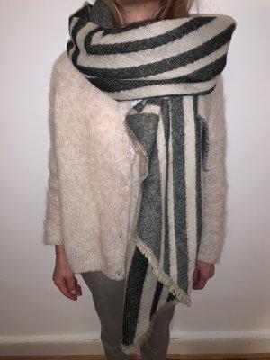 Schal beige grau