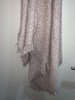 Bershka Sciarpa lavorata a maglia rosa antico-rosa pallido