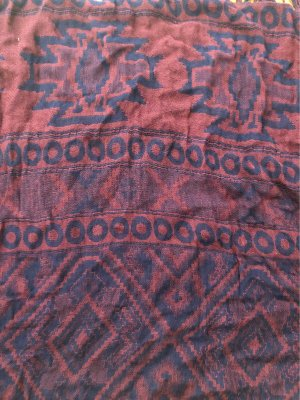 H&M Fringed Scarf dark blue-brown