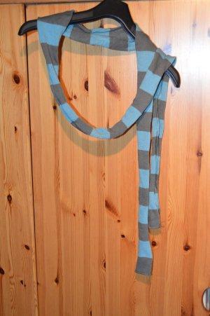 Schal blau-grau kariert