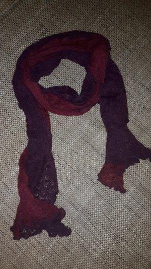 Schal Bordeaux/lila Strick