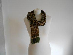 Schal braun beige grün