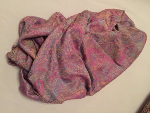 Pashmina multicolored mixture fibre