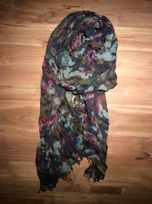 Schal Camouflage Look mit Blumen Replay
