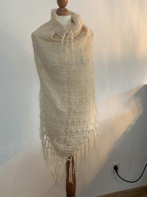 Écharpe en crochet blanc cassé