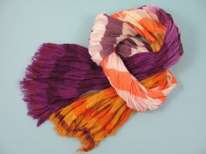 Fraas Gekreukte sjaal veelkleurig